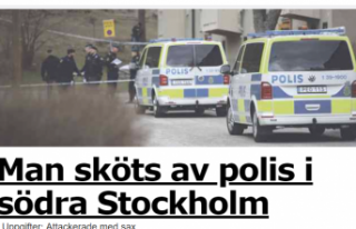 Stockholm'de polis bir kişiyi vurdu