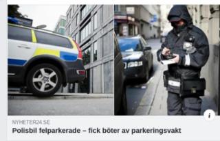 Yanlış yere park eden polise 1000 kron park cezası