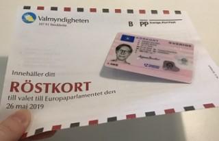 İsveç'te AP seçimleri için oy verme işlemi...