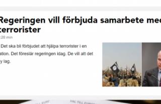 İsveç'te terör örgütü üyelerinin gösterileri...