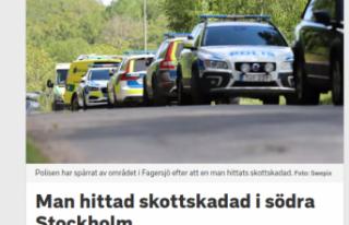 Stockholm'de yaralı bir kişi bulundu