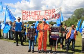 İsveç'te Çin protestosu