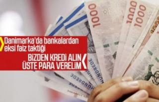 Danimarka'da bankadan borç alanlara eksi faizli...