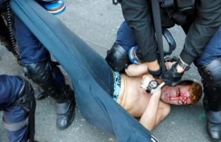 G7 Zirvesi protestolarına polisten sert müdahale:...