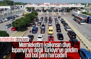 Gurbetçiler Türkiye'den ayrılıyor