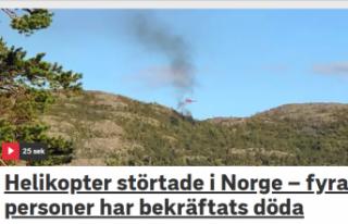 Norveç'te helikopter düştü: 4 ölü