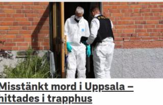 Uppsala'da bir kişi öldürüldü