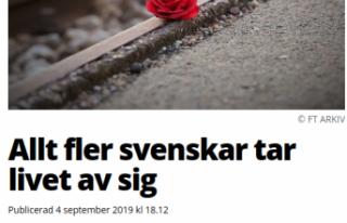 İsveç'te haftada 30 kişi intihar ediyor