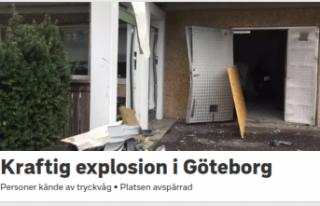 İsveç'te patlama