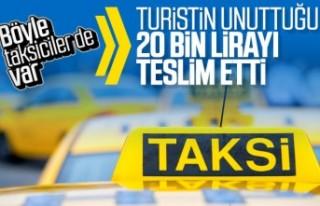 Takside unutulan 20 bin lira sahibine teslim edildi