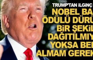 Trump İsveç'in Nobel Ödülü istedi