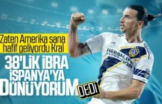 Ibrahimovic: İspanya'ya geri dönüyorum
