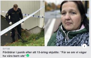 İsveç'te 13 yaşında bir çocuk vuruldu: aileler...