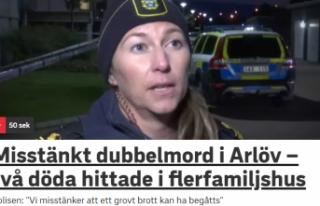 İsveç'te çifte cinayet