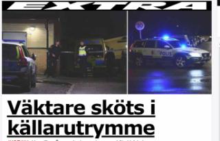 Rinkeby'de bir güvenlik görevlisi vuruldu
