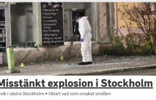 Stockholm'de patlama