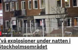Stockholm'de gece yarısı iki patlama