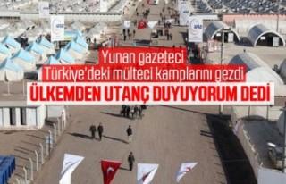 Yunan gazeteci Türkiye'de sığınmacı kamplarını...