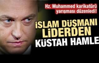 Irkçı liderden yeni provokasyon! Hz. Muhammed karikatürü...