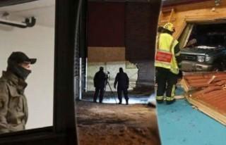 Spor salonuna araçla giren sarhoş sürücü tutuklandı