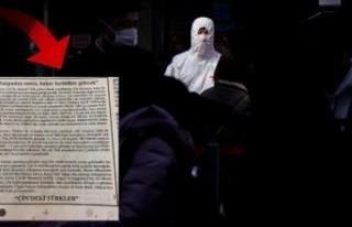 Çin'deki Türkler virüsle ilgili gazeteye ilan...
