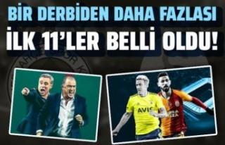 Fenerbahçe Galatasaray (FB-GS) İlk 11'ler belli...