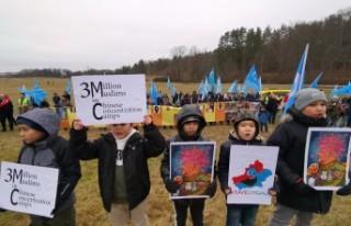 İsveç'te Gulca katliamı protesto edildi