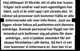 Türkiye'de estetik ameliyatı olan İsveçli...