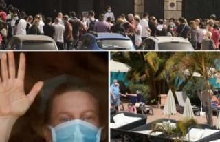 Virüs nedeniyle karantinaya alınan otel ilk kez...