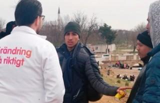 Edirne'de sığınmacılara İsveç'e gelmeyin...