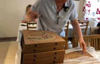 İsveç'te Cihanbeylili pizzacıdan sağlık çalışanlarına...