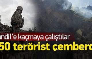 250 terörist çember içine alındı!