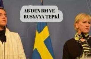 AB'den BM ve Rusya tepkisi