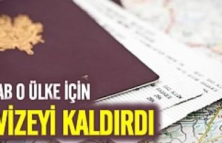 AB o ülke vatandaşları için vizeyi kaldırdı