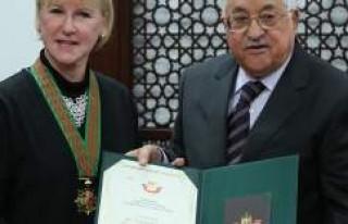 Abbas, İsveç Dışişleri Bakanı Wallström ile...