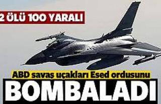 ABD jetleri Suriye ordusu mevzilerini bombaladı