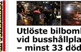 Aftonbladet Ankara'da ölü sayısını 33 olarak...