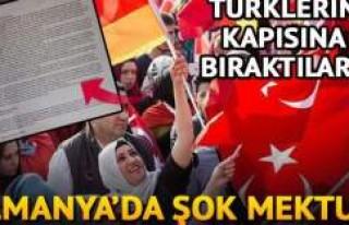 Almanya'da şok mektup! Türklerin kapısına...