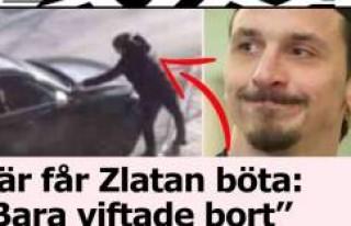 Aracını engellilerin parkına durduran İbrahimoviç'e...