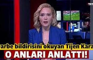 Bildiriyi okuyan TRT spikeri o anları anlattı!