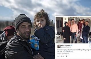 Danimarka'da Suriyeli aileye yardım eden çifte...