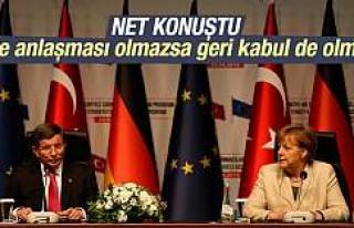 Davutoğlu: Vize anlaşması olmazsa geri kabul de...