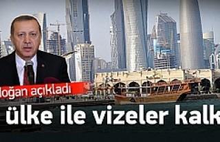 Erdoğan açıkladı: Vizeler kalktı