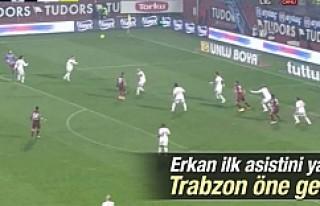 Erkan Zengin Tranzon'da ilk pası gol oldu...