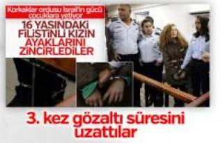 Filistinli cesur kız Temimi'nin gözaltı süresi...