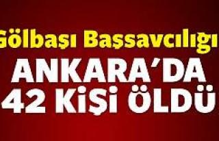 Gölbaşı Başsavcılığı: Ankara'da 42 kişi...