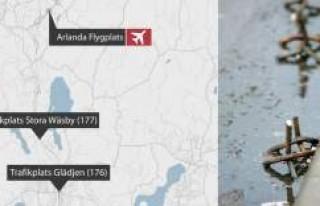 Hırsızlar Stockholm'de sabah trafiğini kilitledi....