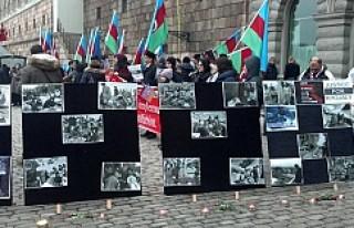 Hocalı Katliamı, İsveç Parlamentosu önünde fotoğraflarla...
