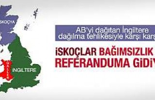 İskoçya'da bağımsızlık için referandum...