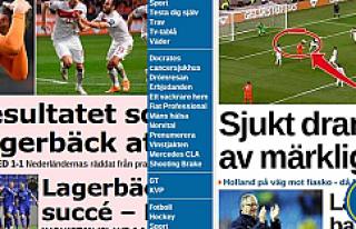 İsveç Basını: Türklerin Dramatik gecesi